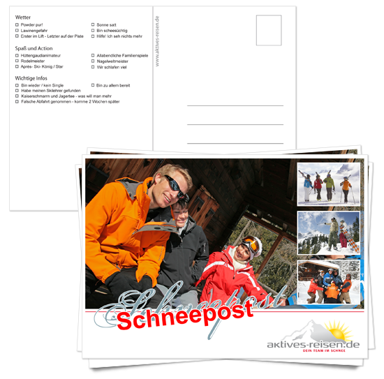 Postkarte Aktives Reisen